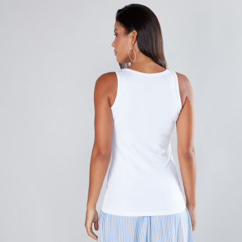 Sleeveless Vest with Round Neckline