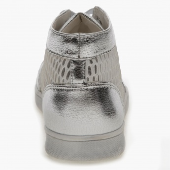 High-Top Mesh Sneakers