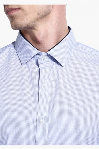 Chequered Shirt with Long Sleeves in Slim Fit