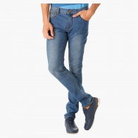 Basic Dark Wash Denims in Skinny Fit
