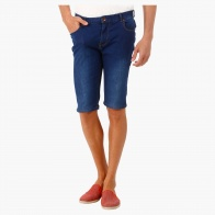 Medium Wash Shorts in Skinny Fit