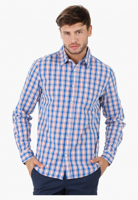 Casual Shirt with Long Sleeves in Regular Fit