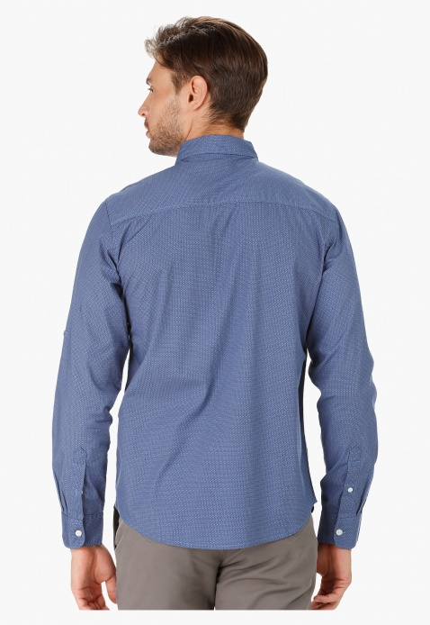 Printed Shirt with Long Sleeves in Regular Fit
