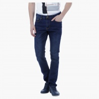 Basic Dark Wash Denims in Straight Fit