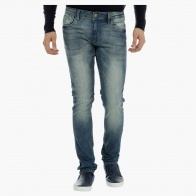 Mid-Rise Denims with Flap Coin Pocket in Skinny Fit
