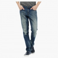 Fashion Straight-fit Jeans with Vintage Wash