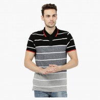 Striped Short-sleeved Polo T-shirt