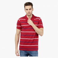 Bold Striped Jersey Polo T-shirt