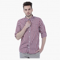 Checked Shirt with Long Sleeves in Regular Fit