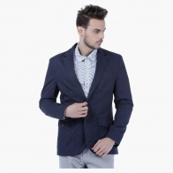 Textured Cotton Blazer in Slim Fit