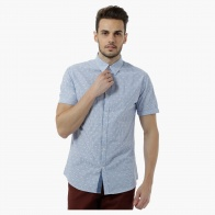 Short-sleeved Yarn Dyed Chequered Shirt