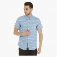 Short Sleeves Shirt with Horizontal Stripes