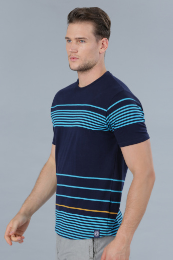 Striped Crew Neck Short Sleeves T-Shirt