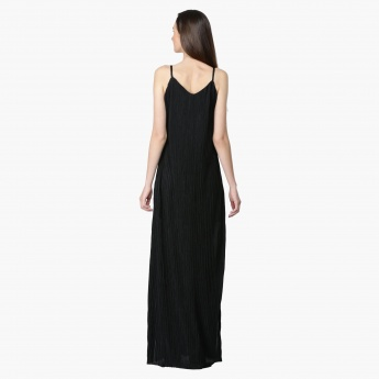 Spaghetti Straps Maxi Dress with Side Slit