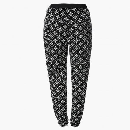 Plus Size Long Harem Pants with All Over Print