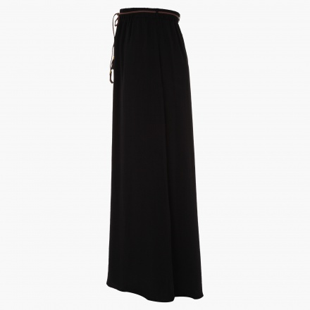 Plus Size Maxi Skirt in Hammered Satin
