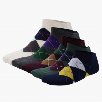 Printed Ankle Length Socks - Set of 5