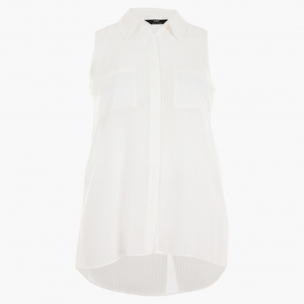 Plus Size Textured Sleeveless Shirt