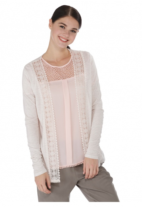 Lace-embellished Shrug