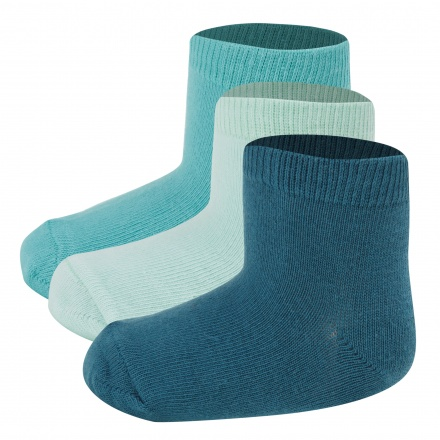 Assorted Ankle Length Basic Socks - Set of 3
