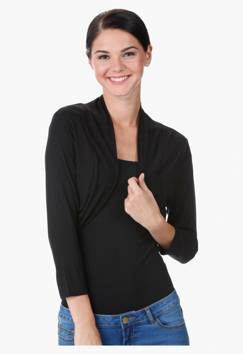 Cropped Long Sleeved Shrug