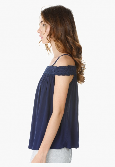 Sleeveless Cold Shoulder Top