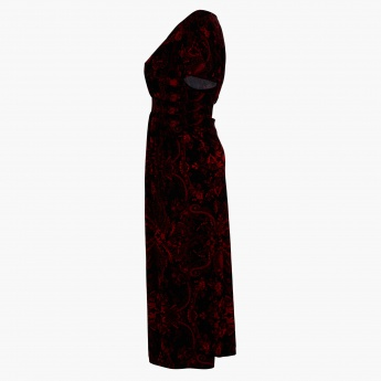 Plus Size Printed A-Line Maxi Dress