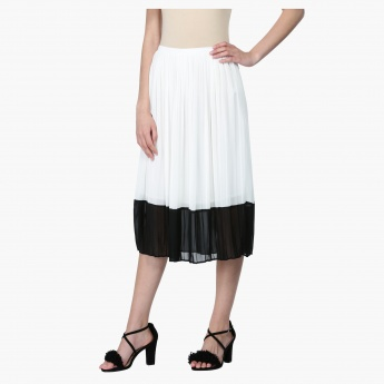 Pleated Skirt with Elasticised Waistband