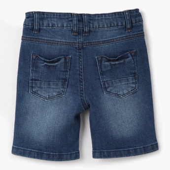 Stonewash Denim Shorts