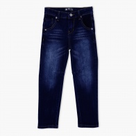 Stone Wash Jeans with Whiskered Finish