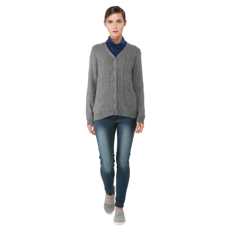Elderly womens cardigans with elbow patches