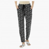 Printed Knit Harem Pants
