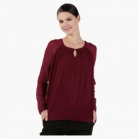 Textured Full-sleeved Top